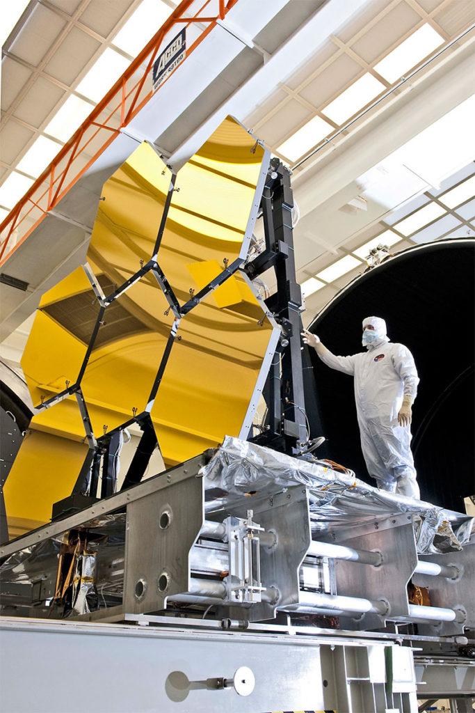 James Webb Telescope mirrors