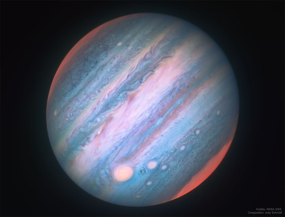Jupiter in infrared light