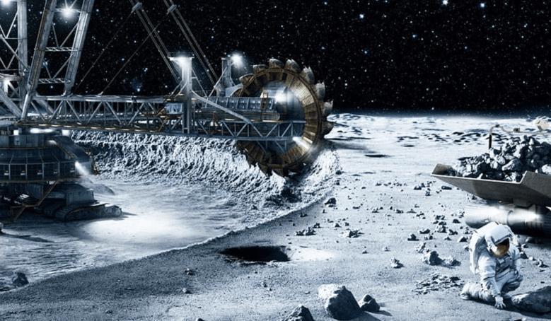 Moon mining concept