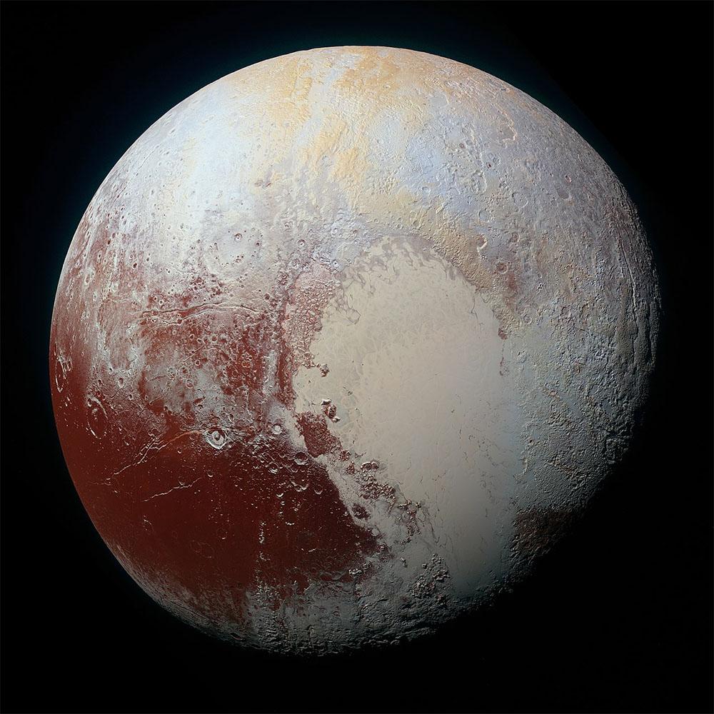 Pluto enhanced colors