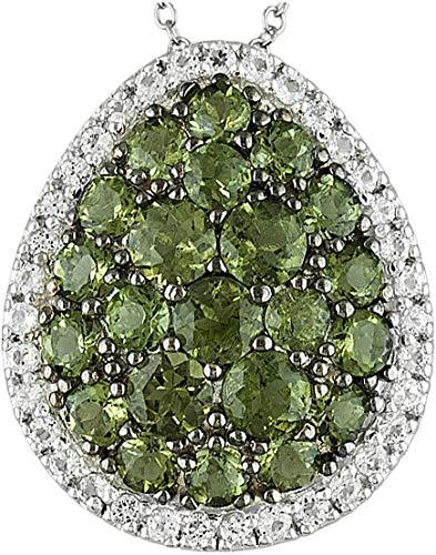 Moldavite droplet pendant