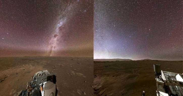 Mars night sky