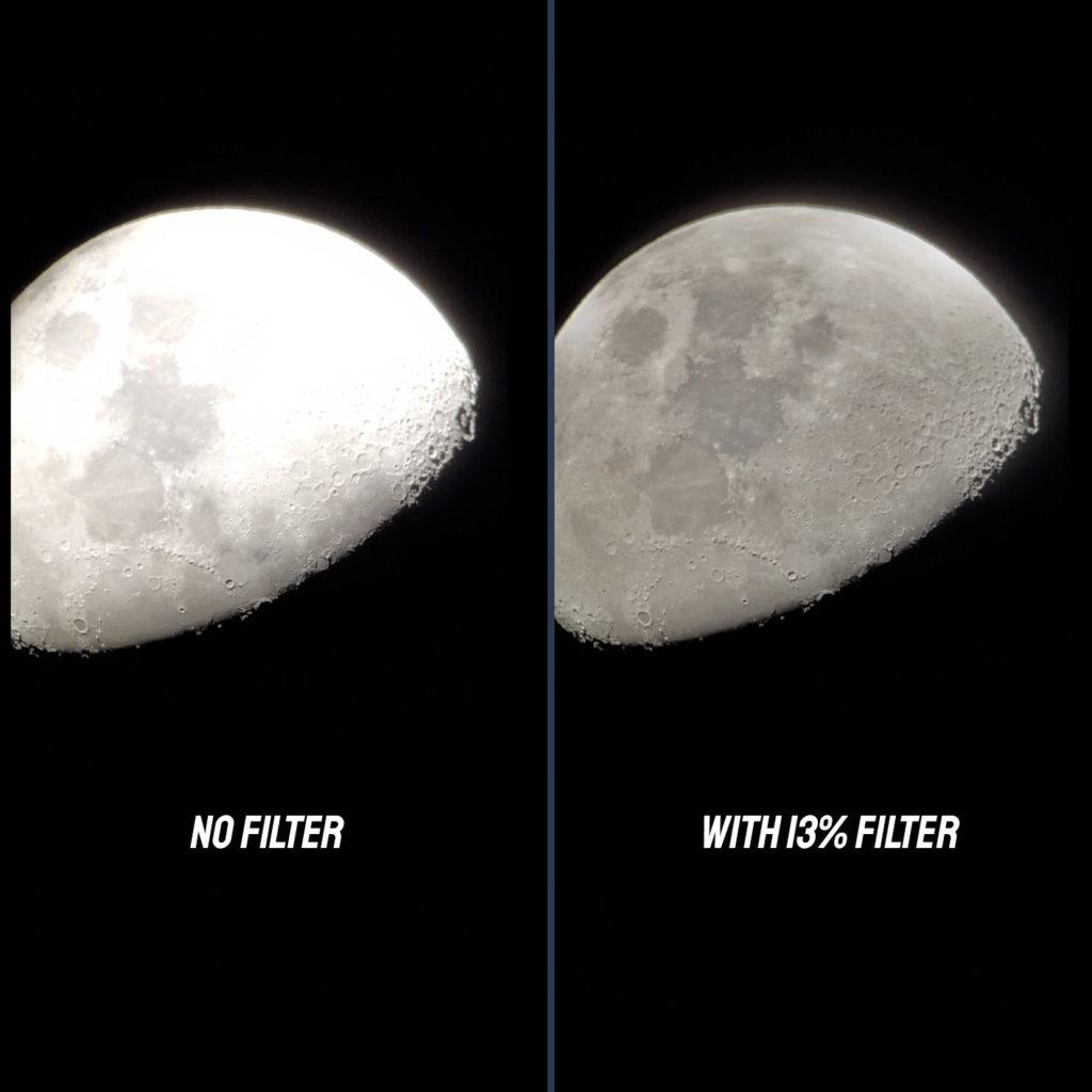Moon filter comparison
